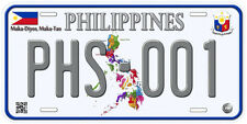Philippines Aluminum Any Text Personalized Novelty Car License Plate