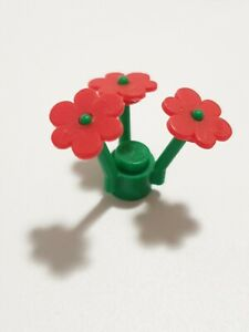 24x LEGO® flower sets (3x Red Flowers with 1x green, 3 prong stem ) = 96pcs