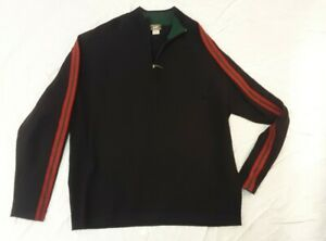 Vintage Mens Alps Wool Black Crewneck Sweater, Size L
