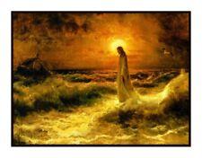 Juilius Sergius Von Klever Christ Walking on Water Counted Cross Stitch Pattern