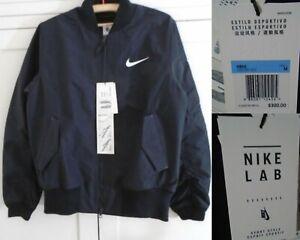 NikeLab Essentials Bomber Jacket Size Medium Black Carrier Strap 890068-010