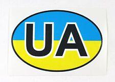 Ukrainian Car Bumper Sticker UA Country Name Code National Flag