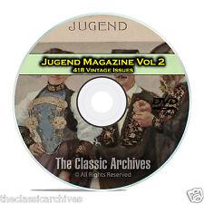 Jugend, Vintage German Art Nouveau Magazine Jugendstil, 418 Issues Vol 2 DVD C25