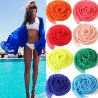 Women Sexy Chiffon Wrap Dress Sarong Pareo Beach Bikini Swimwear Cover Up Scarf
