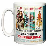 Dirty Fingers Mug, Sean Connery James Bond Thunderball, Film Design Poster