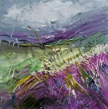 More details for semi abstract landscape art. original acrylic painting.