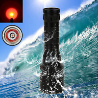 Vastfire Diving 5000LM Q5 RED LED Scuba Flashlight Torch Light Underwater 100m