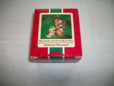 """Bottlecap Fun Bunnies"" Hallmark Christmas Keepsake Ornament - Nib"