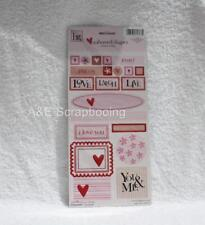Heidi Grace Love Blossoms Embossed Shapes Stickers