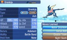Pokemon Ultra Sun and Ultra Moon - 6 IV Battle Bond Ash Greninja Trade