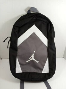 "Nike JORDAN Diamond Jumpman Backpack 15"" Laptop 9A0262-023 Black/Gray/White NWT"