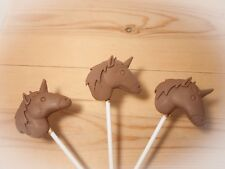 unicorn/magical/animal/Belgian chocolate lollies/lollipops x 10