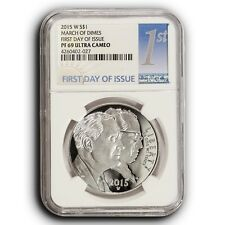 2015 W March of Dimes NGC PF70 UC First Day Of Issue Proof Silver Dollar Coin
