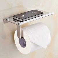 Wall Mount Toilet Paper Holder Stainless Steel Bathroom Tissue Phone Holder