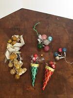Vintage Christmas Glass Ball Ornaments