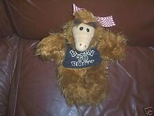 """1988  10"""" ALF HAND PUPPET BORN TO ROCK SHIRT COOL AND HARD TO FIND!"""