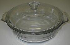 Glass 448 Clear 1½ QT Casserole w/Lid Oven Proof Microwave KITCHEN GLASSWARE