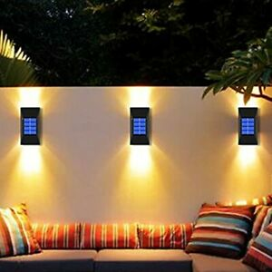 Solar Wall Lights Outdoor, Solar Sensor Security Lights, LED Up and Down