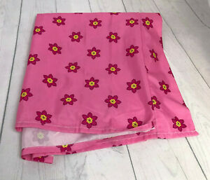 Disney Minnie Mouse Pink Floral Crib Toddler Bed Flat Sheet