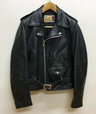 SCHOTT 613  ONE STAR PERFECTO SIZE36 LEATHER DOUBLE JACKET STEERHIDE  GOOD