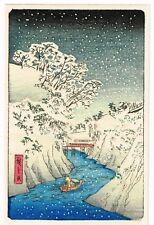 1930's Japan Japanese Woodblock Wood Block Print Vintage Old Antique #3