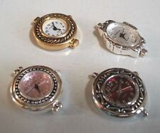 SET OF 4 SILVER /GOLD FINISH WATCH FACES FOR BEADING OR OTHER USE