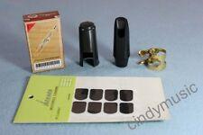 Soprano Saxophone Mouthpiece combination/1xCap/1x Metal Ligature/10xReeds/8xpads