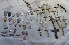 HUGE LOT OF VINTAGE & ANTIQUE ROSARY PARTS! MUST LOOK!