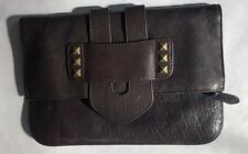 Tila March 'Zelig' Brown Leather Clutch