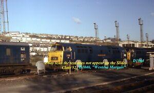 Original 35MM Colour Railway Slide of Diesel Loco Class 52 D1046 Western Marquis