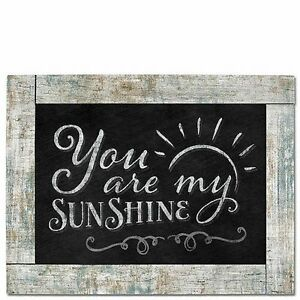 Chalk it Up Framed Wood Sign---You Are My Sunshine---Large Plaque