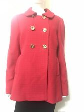 Juice Couture Red Peacoat Size XL Brass Button