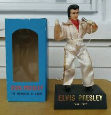ELVIS Memorial Vtg Solid State AM Radio w/Box Made in Hong Kong Jumpsuit Rock