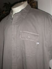 NWT ECKO UNLTD GREY S/S FULL BUTTONED DRESS SHIRT SZ:3XB 3XL 3X