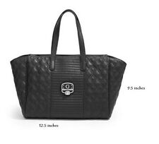 Guess Mica Quilted Satchel Handbag in BLACK  New