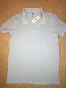Boys Collared Light Blue Shirt School Uniform Size Medium 10 12 Old Navy NEW NWT