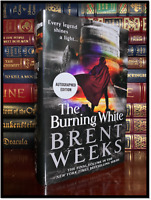The Burning White ✍SIGNED✍ by BRENT WEEKS New Hardback 1st Edition First Print