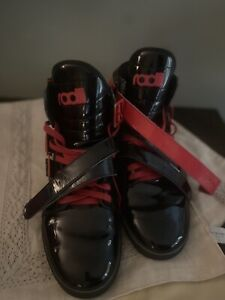 RADII STRAIGHT JACKET BLACK & CANDY RED  Men's Size 11 Sneakers Shoes FM1037 EUC