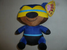 NEW W TAG SUPER HERO TEDDY BEAR PLUSH SUGAR LOAF TOYS  NWT TOY BLUE YELLOW BLACK