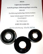 Miele Lagersatz Trommellager Lager WEDI  35x76 10/14  plus  6305 RS 6306 RS