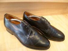 CHURCH'S completa Pelle Tinta Unita frontale Derby UK 6.5 40.5 vintage nero lacci * Wide Fit