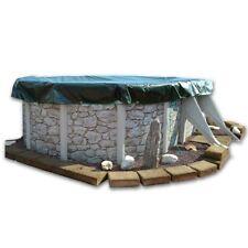 Copertura invernale / 4 stagioni ottagonale 5 x 4 m per piscina fuoriterra