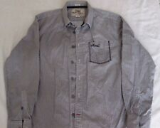 `Animal' Long Sleeved 100% Cotton Classic Shirt, Grey / Taupe Spot, Large, 44""