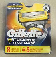NEW Gillette Fusion ProShield 5 Men's Razor Blade Refills 8 Count Factory Sealed