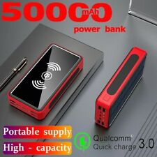 Solar Mobile Power Bank 50000mAh Wireless Charging Portable Solar Battery Charge