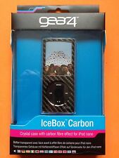 GEAR4 Black Icebox Carbon Crystal Hard Case Cover for iPod Nano 4g + Lanyard