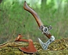 More details for custom forged carbon steel viking axe birthday, father day and anniversary gift