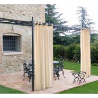 Tenda per gazebo e pergolati in legno cm 160x270 cotone con passanti e bottoni