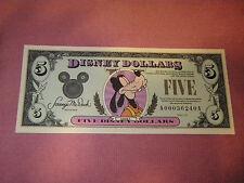 DISNEY DOLLARS 1991 UNCIRCULATED  $5 A00036240A