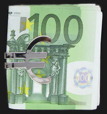 PLAYAZ*CASH*EURO ZEICHEN*MONEY CLIP*GELDKLAMMER*MONEYCLIP*PLATIN*RHODINIERT*